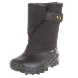 Tundra Teddy Boot (Toddler), Black/Yellow